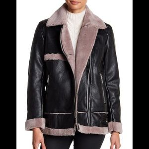 NWT BCBGeneration Long Faux Fur Lined Jacket S